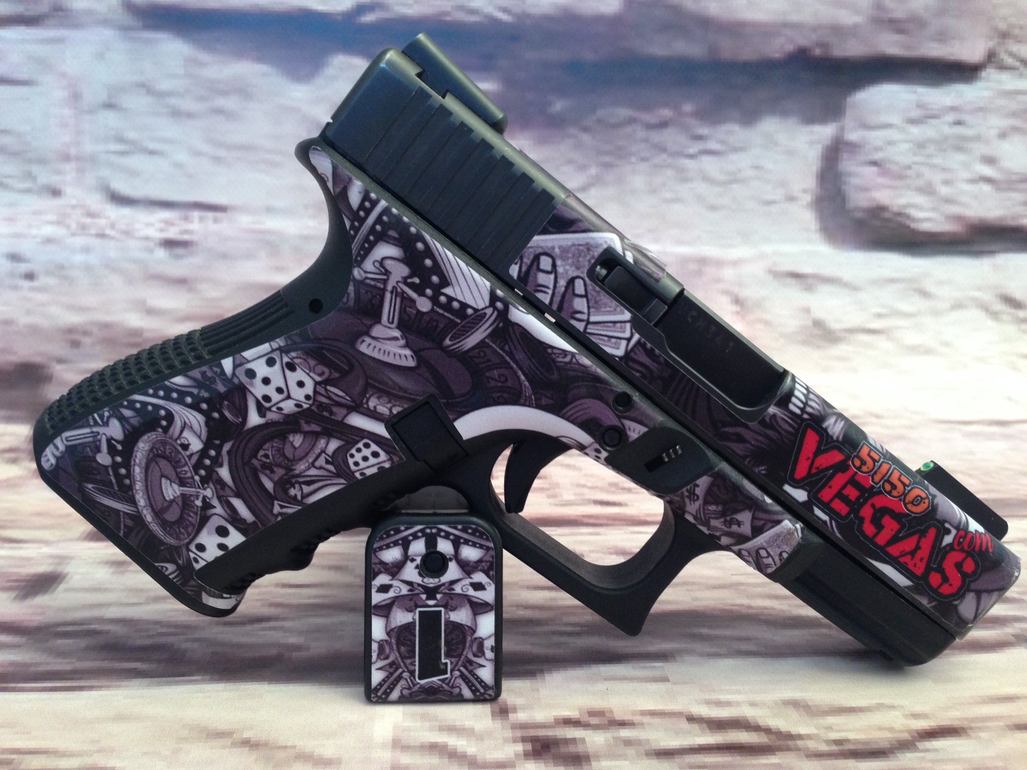 Custom Gun Wrap For Glock 19 Gen 3 High Caliber Graphix