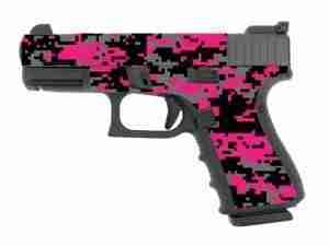 Pink and Black Digital Camo